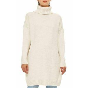 Topshop Sweater Dress 6 Ribbed Turtleneck Long Slv